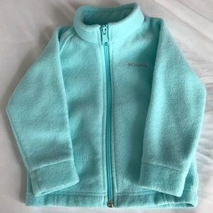Size 2t Columbia fleece jacket euc